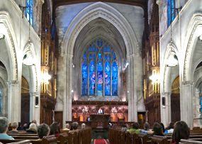 photo of church-interior-stained-glass-window