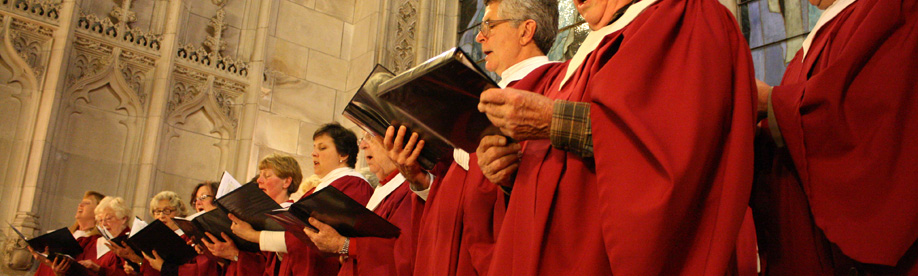 photo close-up of choir