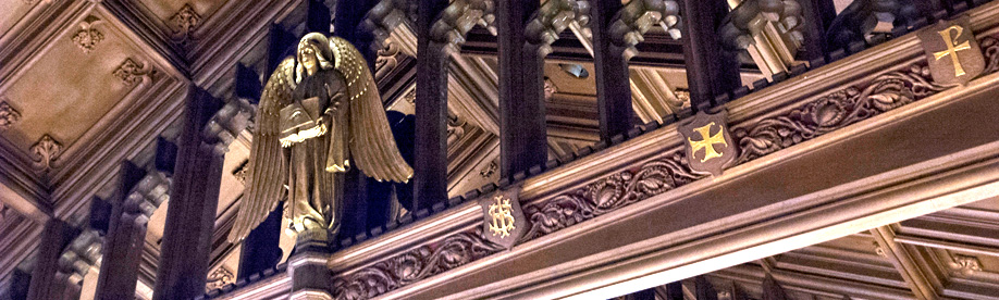 photo of ceiling with angel