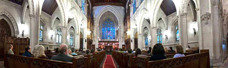 wide-angle photo of church-sanctuary