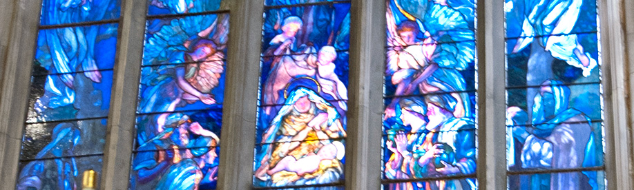 photo of stained-glass-windows